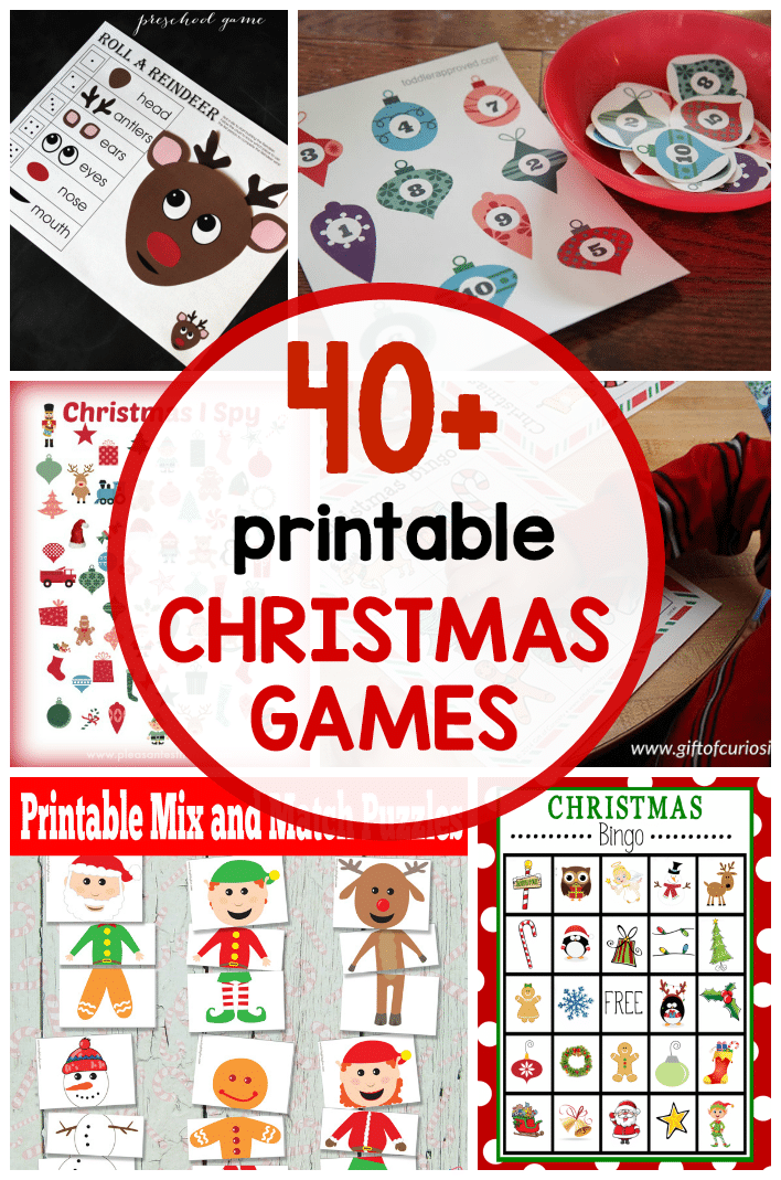 Classroom Game Ideas ~ Free printable christmas games for kids the measured mom