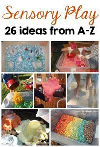 sensory play ideas from A-Z