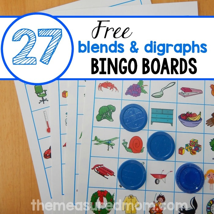 Help your child learn beginning blends and digraphs - with BINGO ...
