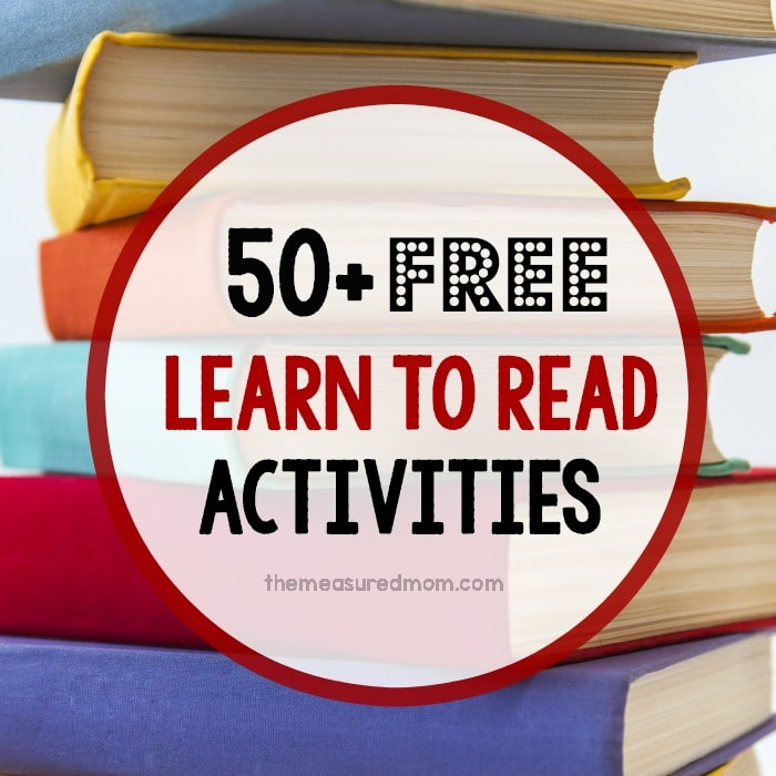 Looking for material to help your child learn to read? This post has alphabet activities, phonics and sight word activities, reading curriculum, and more... all FREE!