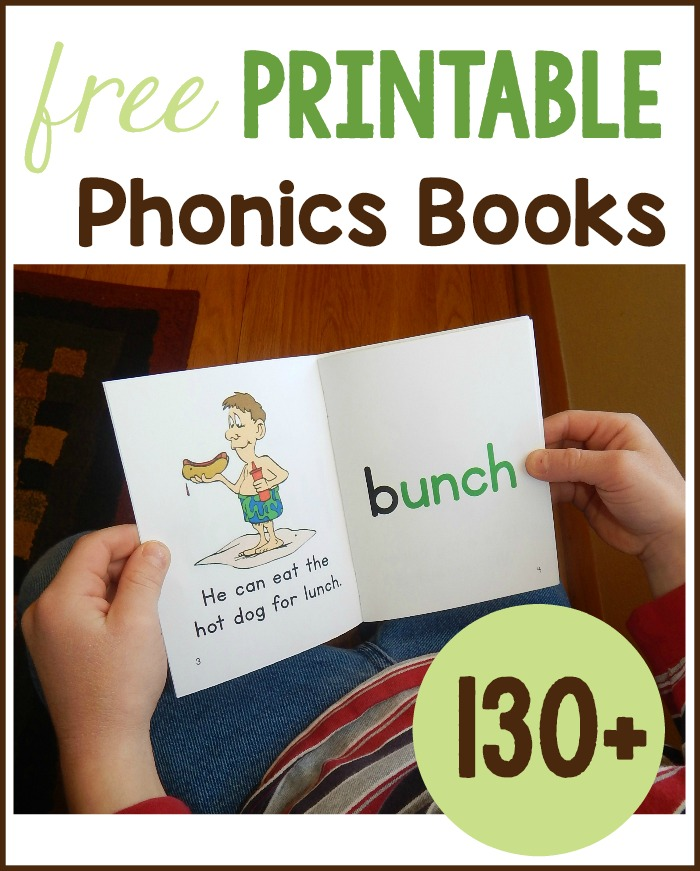 Get Over 130 Free Phonics Books To Print For Your Early Reader My Kids Love