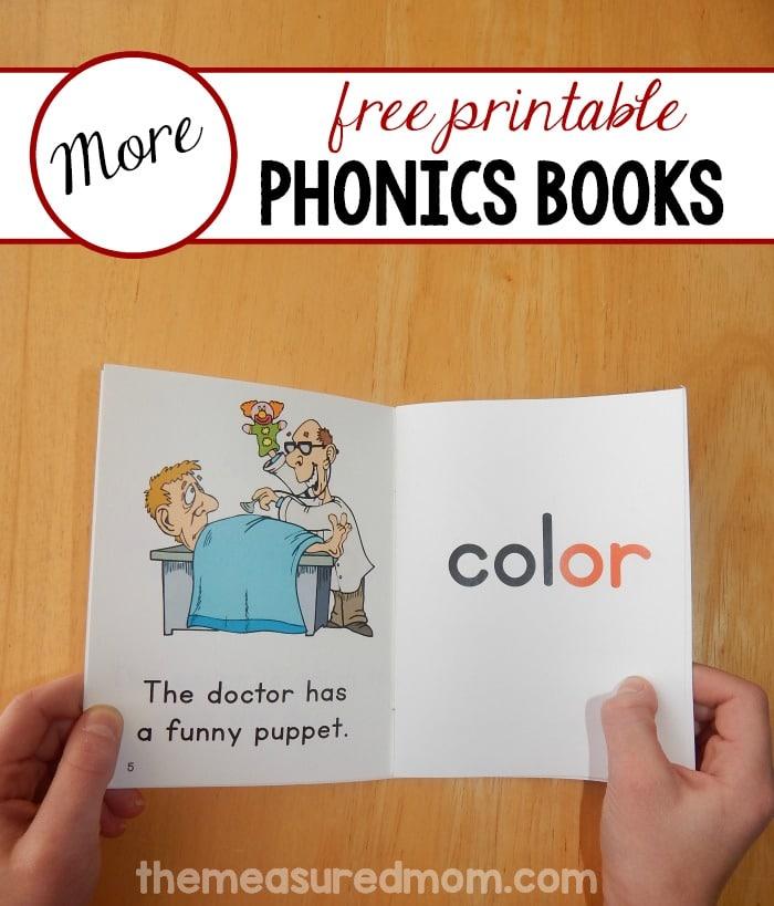 More free phonics books! (set 21) - The Measured Mom