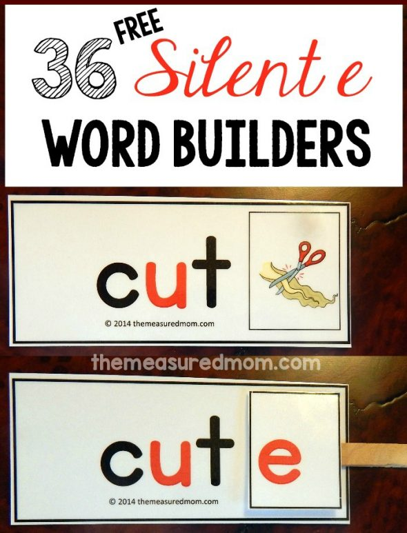Print these free cards for a great silent e activity!