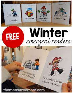 free winter emergent readers