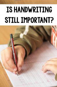 Is handwriting still important?