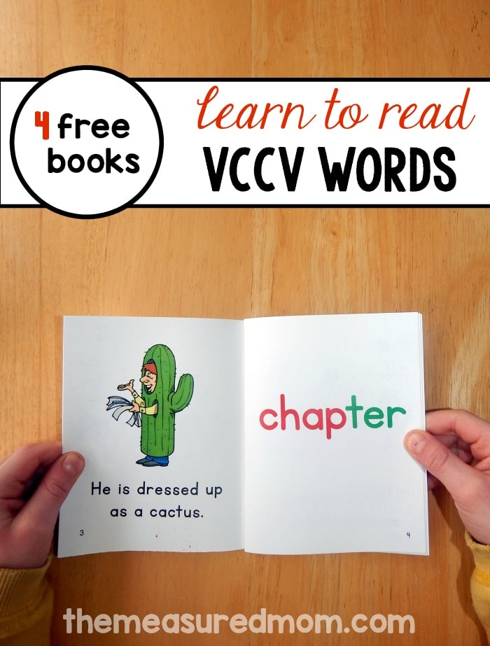 read vccv words with these free printable books the measured mom. Black Bedroom Furniture Sets. Home Design Ideas