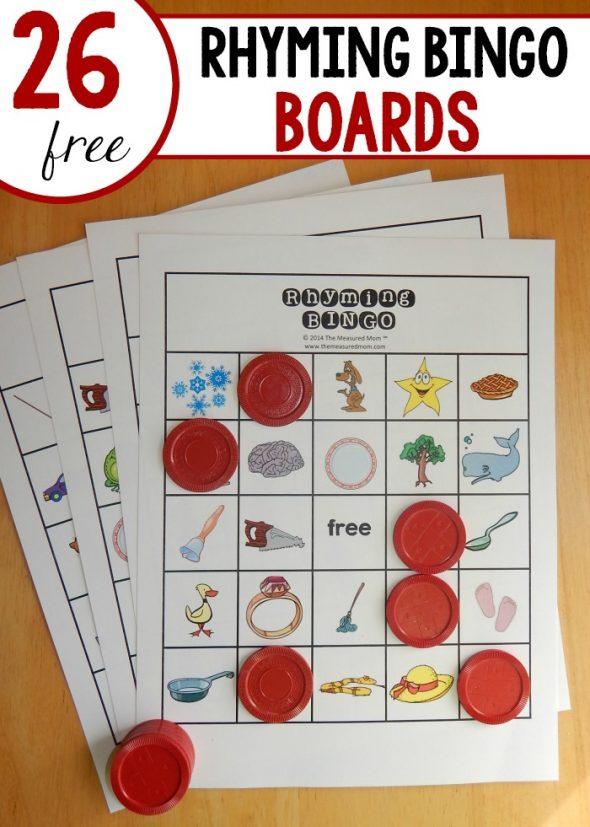 Looking for a fun rhyming game for kindergarten? Try Rhyming Bingo! 26 ...