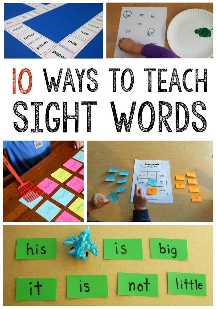preschool sight words games 10 simple sight word activities the measured 862