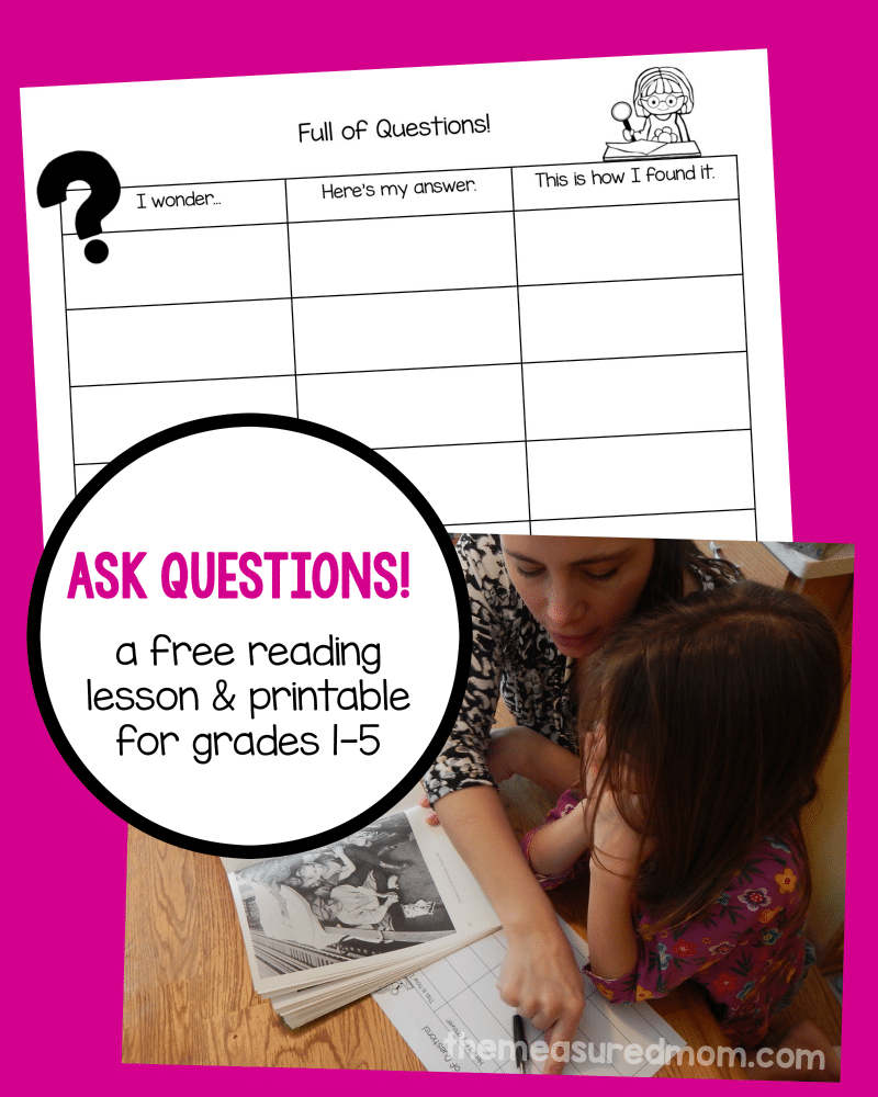 asking questions - a reading strategy lesson