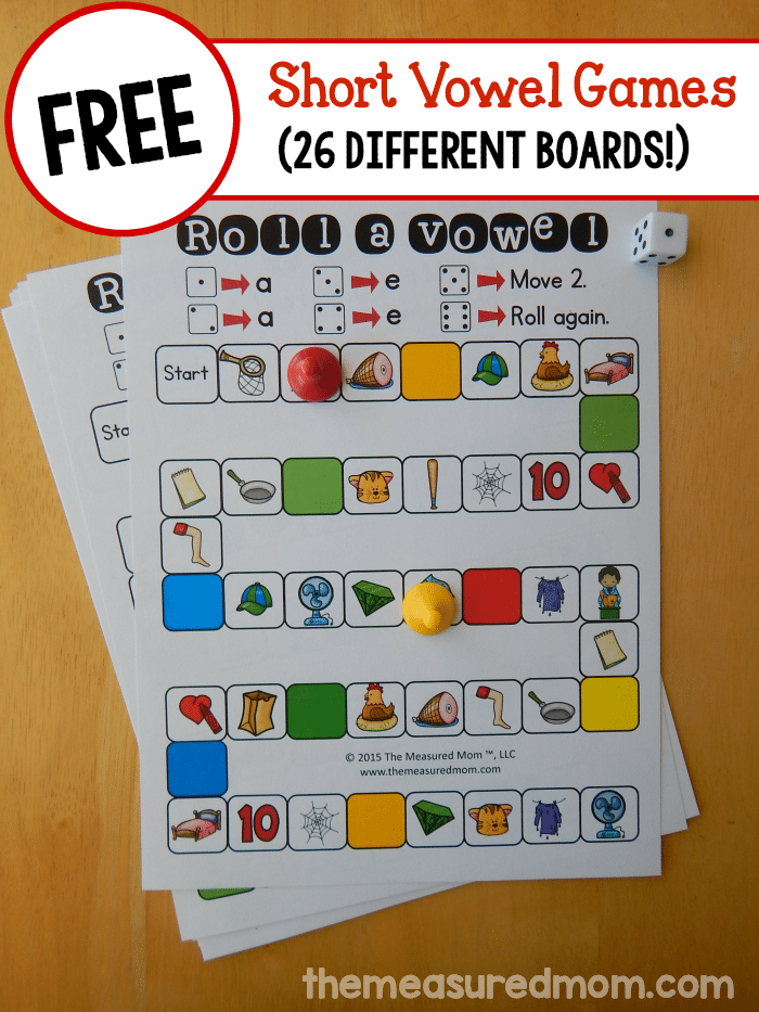 Free Short Vowel Games on 26 free games to teach long vowel sounds