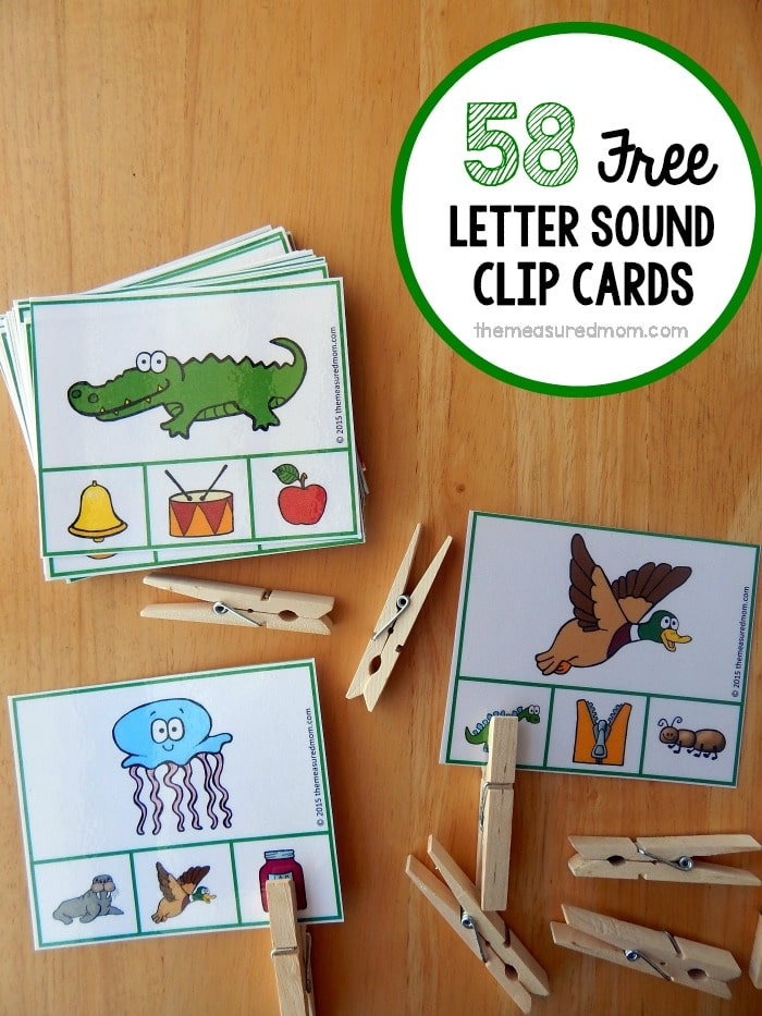 Free Letter Sounds Activity Clip Cards The Measured
