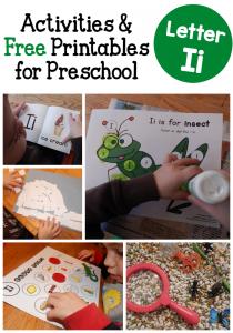 Letter I activities for preschool