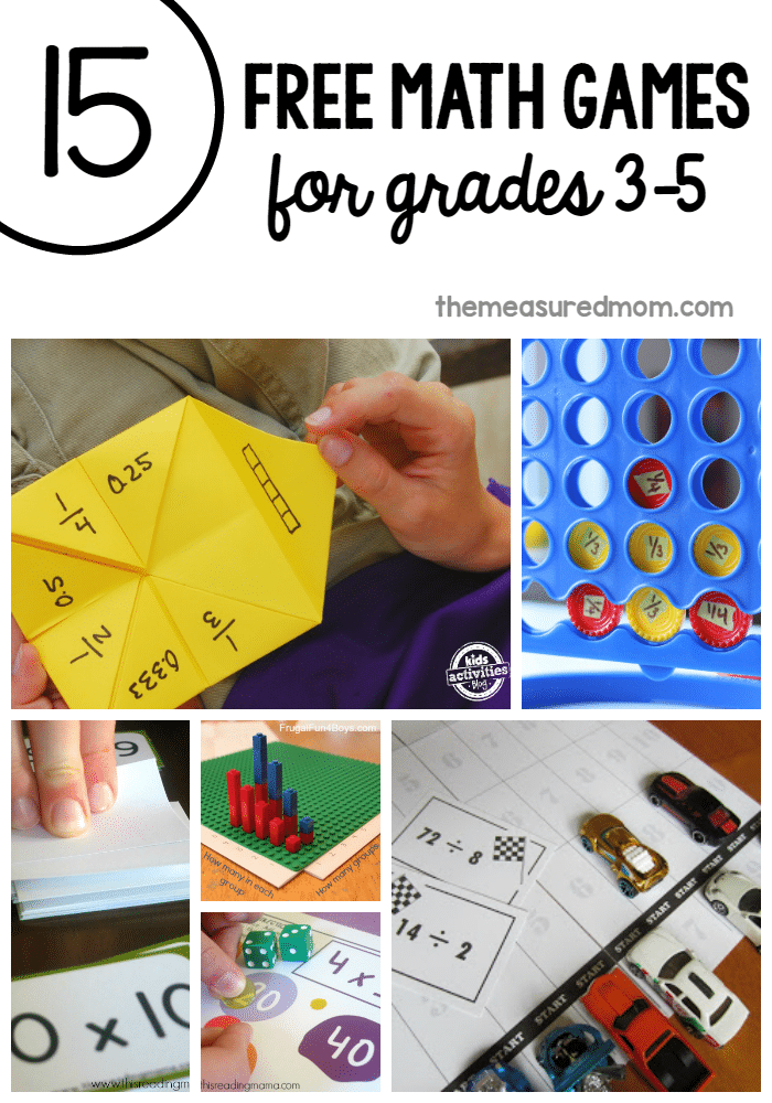 Math Games For Grade 3 And Up - The Measured Mom