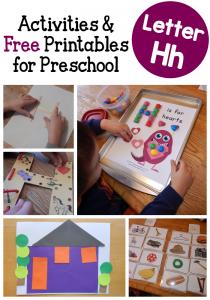 letter H activities for preschool
