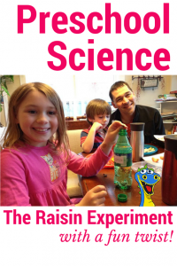 preschool science dancing raisins experiment