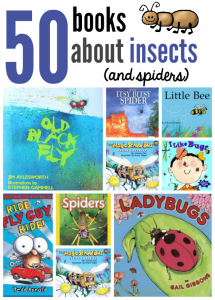 Books about insects and spiders for preschoolers