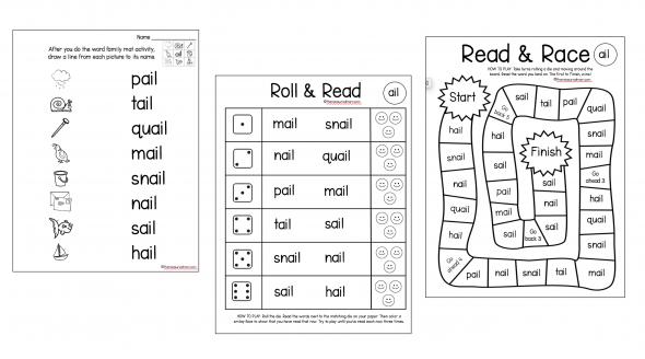 long vowel word family mats  u0026 games