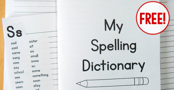 Printable Spelling Dictionary for Kids - The Measured Mom