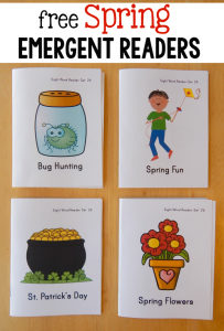 free spring emergent readers