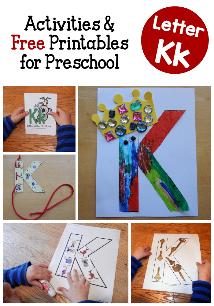 Letter k activities for preschool the measured mom for Educational crafts for preschoolers