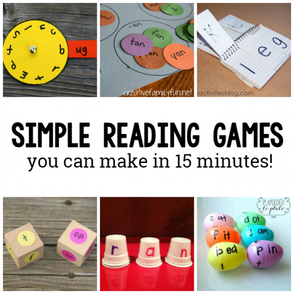 Looking for reading games for kids? You can make each of these 10 games in less than 15 minutes!