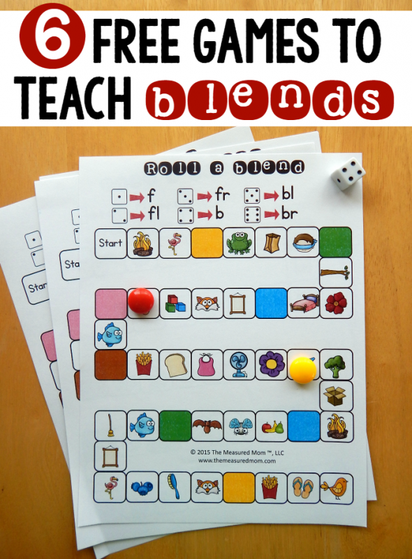 6 Free Games For Teaching Beginning Blends The Measured Mom