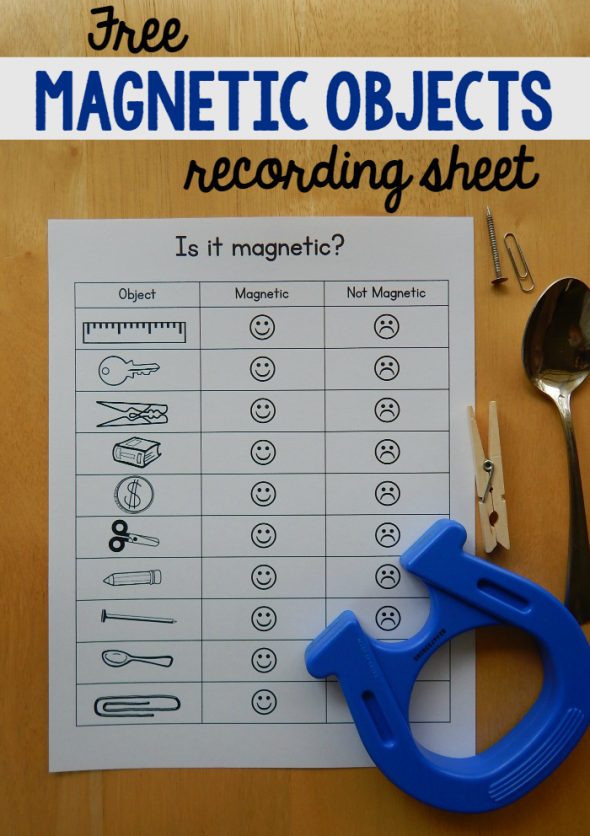 Free Mag  Worksheet For Kids on magnet science project