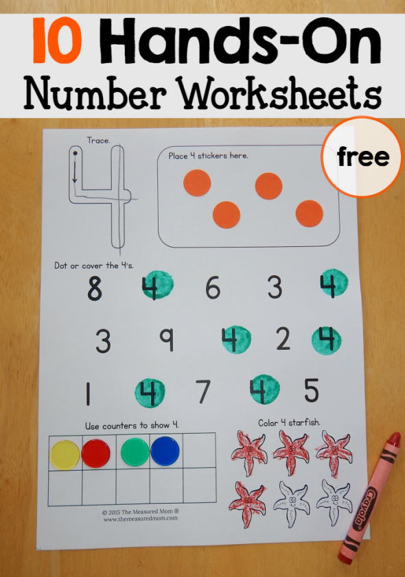 Number Tracing 1-10 - Ten Worksheets : Kindergarten ...