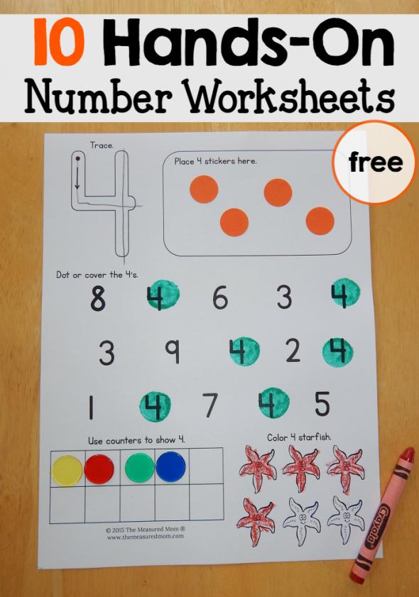 Number Worksheets 1-10 - The Measured Mom
