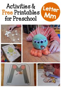 letter M activities for preschoolers