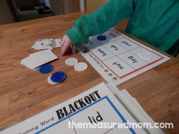 short vowel blackout