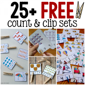 25+ sets of free count and clip cards