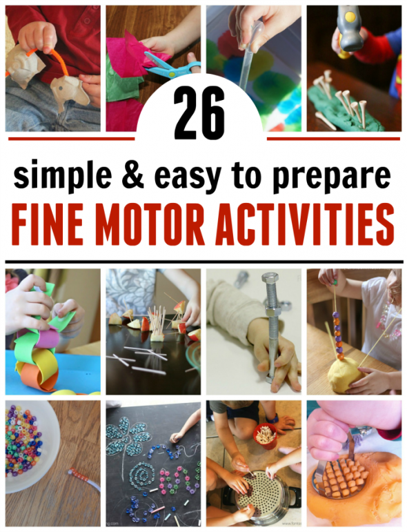 26 low prep fine motor activities from a z the measured mom for Fine motor activities for kindergarten