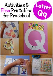 Letter Q Activities for Preschool