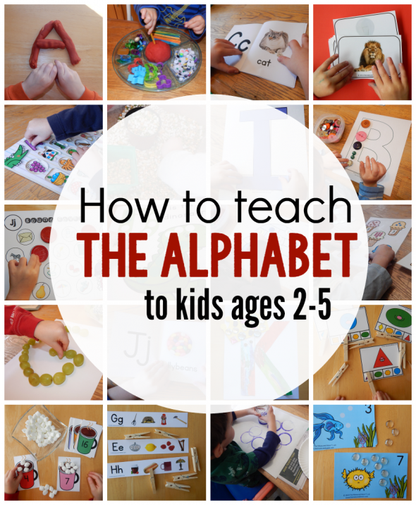 how to teach the alphabet to kids ages 2-5