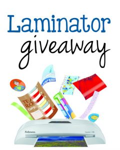 laminator giveaway from the measured mom