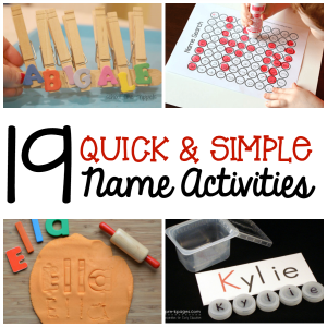 19 quick and simple name activities FB square