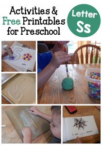 Letter S activities for preschol