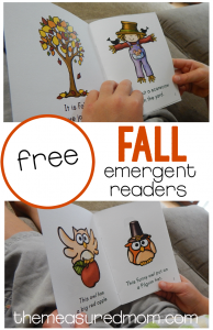 free fall emergent readers!