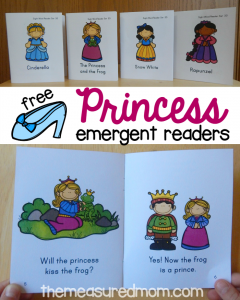 free princess emergent readers