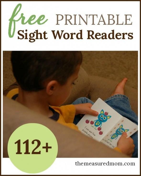 free sight word books!