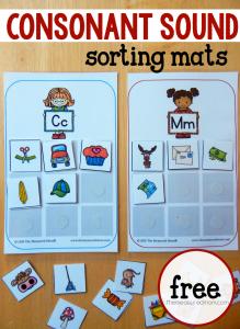 consonant sounds sorting mats