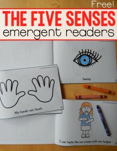 five senses emergent readers