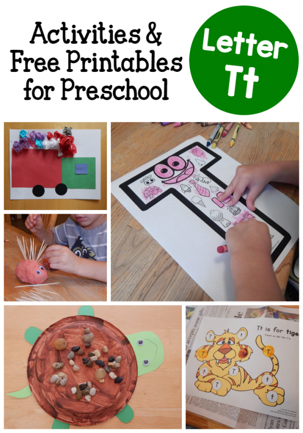 Letter T activities for preschool - The Measured Mom