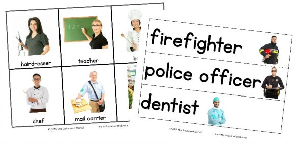 picture cards and pocket chart sentences image 2