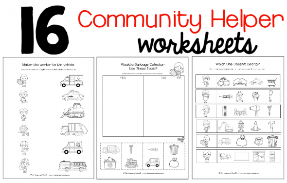 New! Community Helpers Theme Pack! - The Measured Mom
