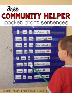 Free community helpers activity for beginning readers