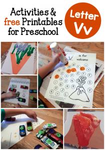 letter V activities for preschool
