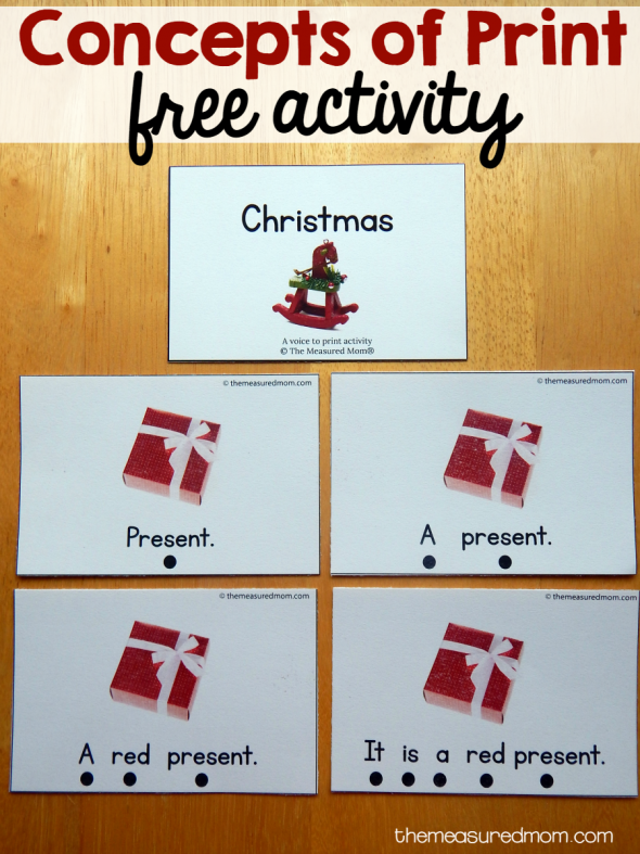 ... get ready to read? Try this Christmas concepts of print activity