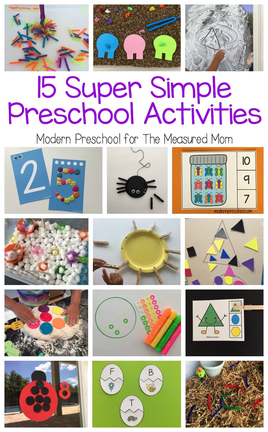 15 Super Simple Learning Centers For Preschool The